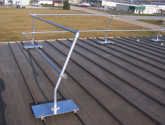 Standing Seam (SG) U-Clamp Curved Safety Rail