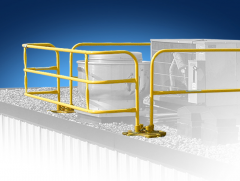 SafetyRail 2000 Pararail Kit (Galvanized Base / Powder Coated Over Steel Rail)