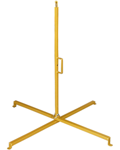 ASEquip folding warning line stands - perimeter safety flag stanchions for temporary or permanent fall protection and fall prevention.