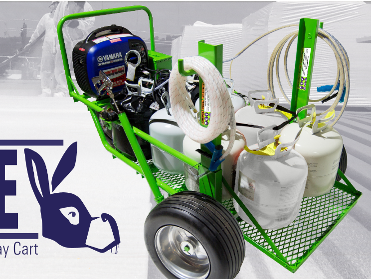 Donkey & Lil' Donkey - Mobile Roofing Adhesive, Primer, Spray Foam Application Carts