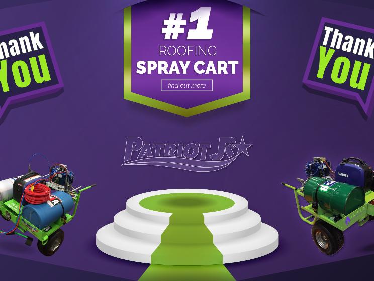 #1 Roofing Spray Cart - The Patriot Junior (PJR), 2019
